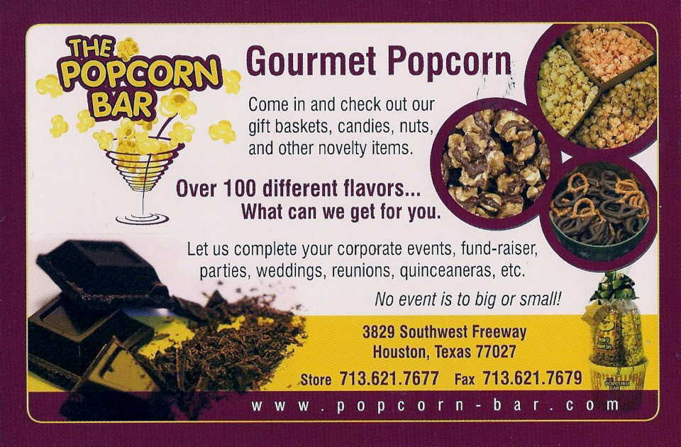 The Popcorn Bar Gourmet Popcorn